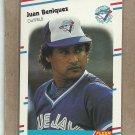1988 Fleer Baseball Juan Beniquez Blue Jays #104
