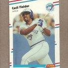 1988 Fleer Baseball Cecil Fielder Blue Jays #110