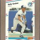 1988 Fleer Baseball Kelly Gruber Blue Jays #111