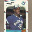 1988 Fleer Baseball Fred McGriff Blue Jays #118