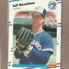 1988 Fleer Baseball Jeff Musselman Blue Jays #121