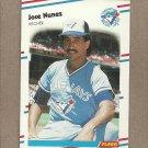 1988 Fleer Baseball Jose Nunez Blue Jays #122