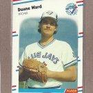1988 Fleer Baseball Duane Ward Blue Jays #125