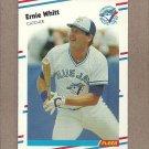 1988 Fleer Baseball Ernie Whitt Blue Jays #126