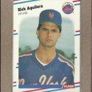 1988 Fleer Baseball Rick Aguilera Mets #127