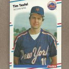 1988 Fleer Baseball Tim Teufel Mets #152