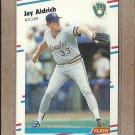 1988 Fleer Baseball Jay Aldrich Brewers #155