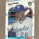 1988 Fleer Baseball Glenn Braggs Brewers #157