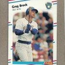 1988 Fleer Baseball Greg Brock Brewers #158