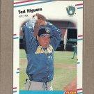 1988 Fleer Baseball Ted Higuera Brewers #166