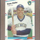 1988 Fleer Baseball Steve Kiefer Brewers #167