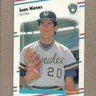 1988 Fleer Baseball Juan Nieves Brewers #170