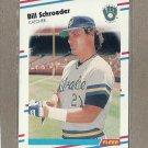 1988 Fleer Baseball Bill Schroeder Brewers #173