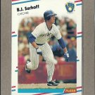 1988 Fleer Baseball B.J. Surhoff Brewers #175