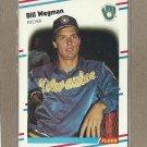 1988 Fleer Baseball Bill Wegman Brewers #177