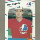 1988 Fleer Baseball Mike Fitzgerald Expos #182