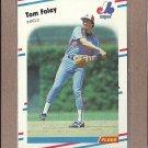 1988 Fleer Baseball Tom Foley Expos #183