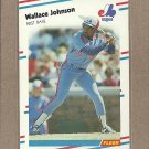 1988 Fleer Baseball Wallace Johnson Expos #186
