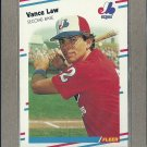 1988 Fleer Baseball Vance Law Expos #187