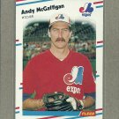 1988 Fleer Baseball Andy McGaffigan Expos #190