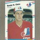 1988 Fleer Baseball Randy St. Claire Expos #197
