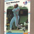 1988 Fleer Baseball Herm Winningham Expos #200