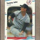 1988 Fleer Baseball Tommy John Yankees #211