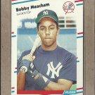 1988 Fleer Baseball Bobby Meacham Yankees #215