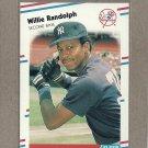 1988 Fleer Baseball Willie Randolph Yankees #218