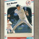 1988 Fleer Baseball Rick Rhoden Yankees #219
