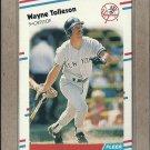 1988 Fleer Baseball Wayne Tolleson Yankees #223