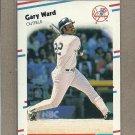 1988 Fleer Baseball Gary Ward Yankees #224