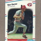 1988 Fleer Baseball Ron Oester Reds #242