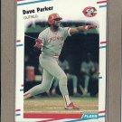 1988 Fleer Baseball Dave Parker Reds #243