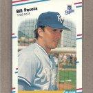 1988 Fleer Baseball Bill Pecota RC Royals #264