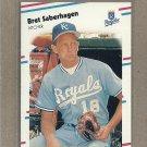 1988 Fleer Baseball Bret Saberhagen Royals #268