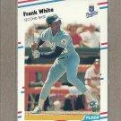1988 Fleer Baseball Frank White Royals #273