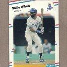 1988 Fleer Baseball Willie Wilson Royals #274