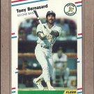 1988 Fleer Baseball Tony Bernazard A's #275