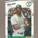 1988 Fleer Baseball Mike Davis A's #277