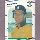 1988 Fleer Baseball Storm Davis A's #278
