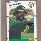 1988 Fleer Baseball Alfredo Griffin A's #280
