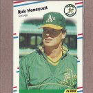 1988 Fleer Baseball Rick Honeycutt A's #281