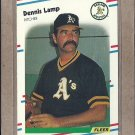 1988 Fleer Baseball Dennis Lamp A's #284