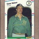 1988 Fleer Baseball Gene Nelson A's #288