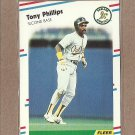 1988 Fleer Baseball Tony Phillips A's #290