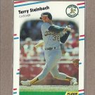 1988 Fleer Baseball Terry Steinbach A's #294