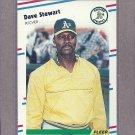1988 Fleer Baseball Dave Stewart A's #295
