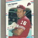 1988 Fleer Baseball Luis Aguayo Phillies #297