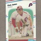 1988 Fleer Baseball Chris James Phillies #307